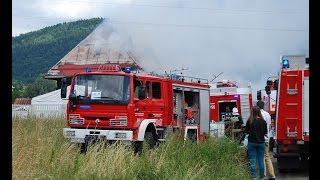 Duży pożar w Wilkowicach 26.07.2015 - dojazdy i przejazdy alarmowe!!!