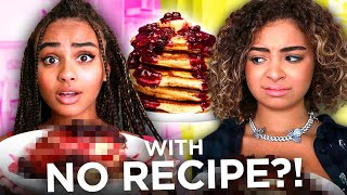 SISTER vs. SISTER Fluffy Pancake Challenge Fail | Dish This w/ Devenity and Daniella Perkins