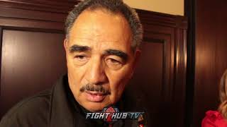 ABEL SANCHEZ SAYS THEY'RE GONNA GO AFTER BJ SAUNDERS BELT IN THE FUTURE