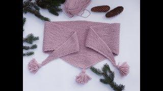 Baktus. Łatwa chusta na drutach. Jak zrobić.