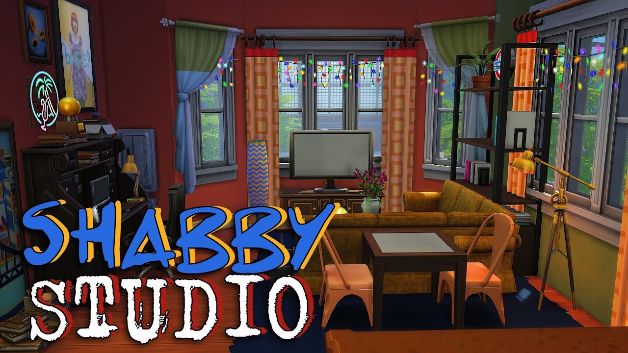 Studio Apartment Building shabby studio apartment | sims 4 apartment build - youtube