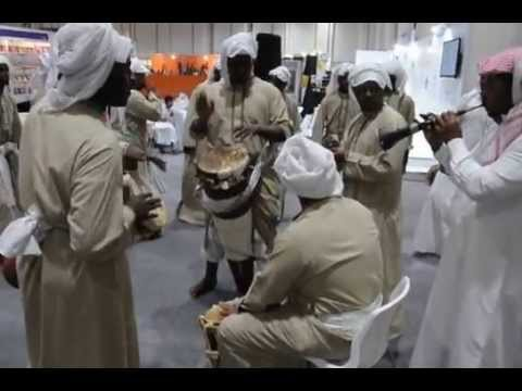 Qatar's Faisal Al Tamimi ensemble in a spectacular show at the Abu Dhabi Book Fair 2013.