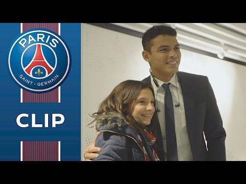 Quand Thiago Silva réalise le rêve de Pauline, membre PSG Junior Club
