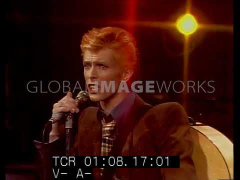David Bowie performing