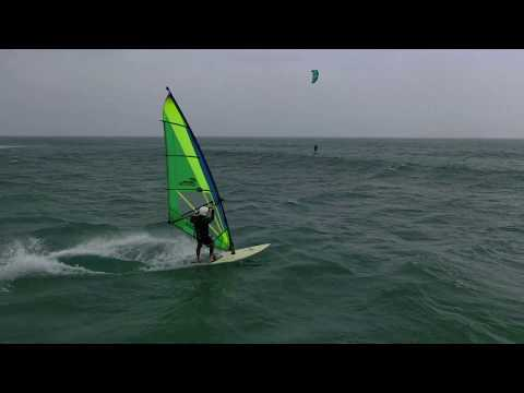 Jerry C, Windsurfing at the Jetties, South Padre Island TX. Nov 26 2019.