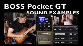 BOSS POCKET GT, SOUND EXAMPLES ALEX HUTCHINGS