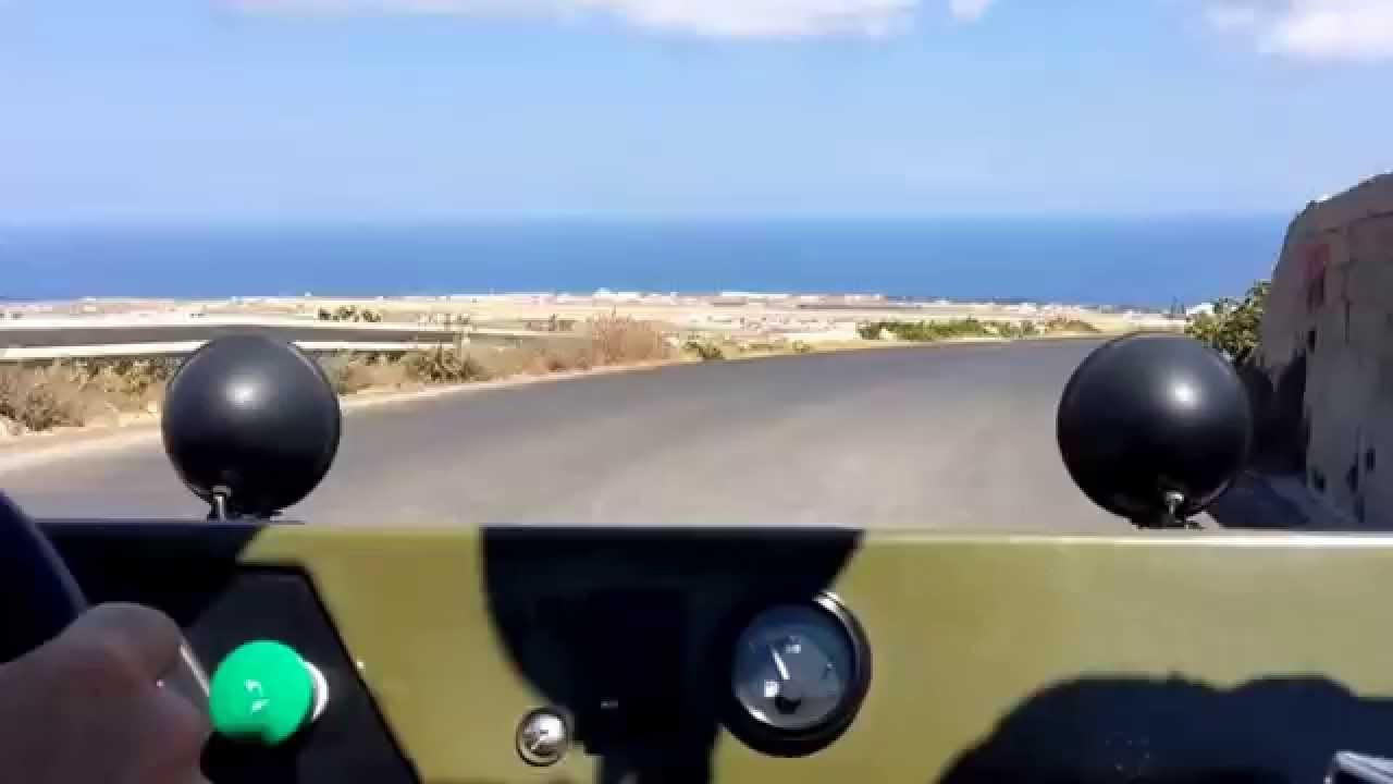 Dune Buggy Drive On Santorini