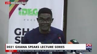 2021 Ghana Speaks Lecture Series - JoyNews 19-10-21