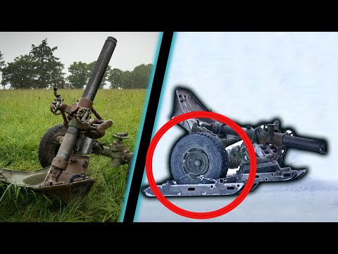 Tracter un mortier 120 mm à ski