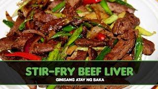 Stir-fry Beef Liver
