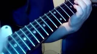 """me playing """"love passion matador"""" by Band Maid. (guitar cover)."""