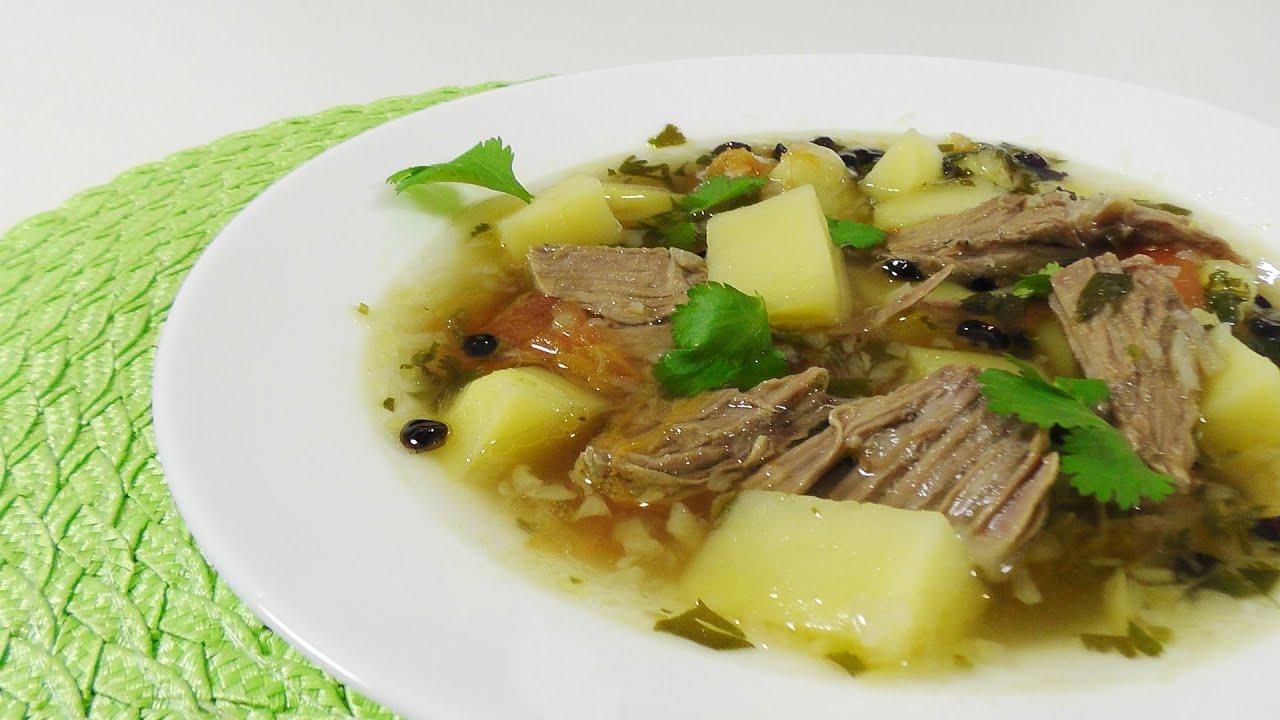 рецепты супов с мясом видео