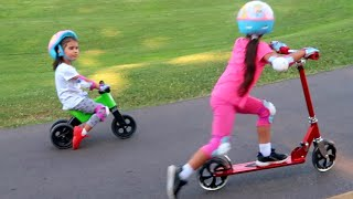 24 Hours Riding Scooters in the Park with Sam and Abby!!