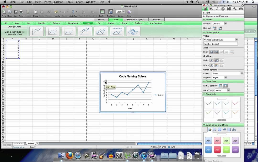 make line graph excel 2008 mac