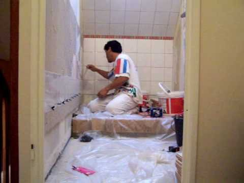 pose carrelage mural salle de bain 1 wall tile installation youtube