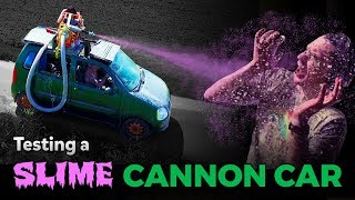 Testing a Car with a Giant Slime Cannon! | Kids Invent Stuff