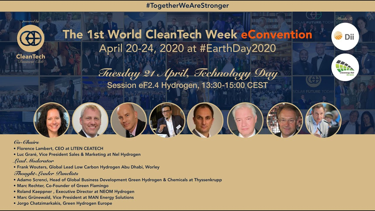 #GreenHydrogen Technology Status Update at The 1st World CleanTech Week eConvention #1stWCWeC