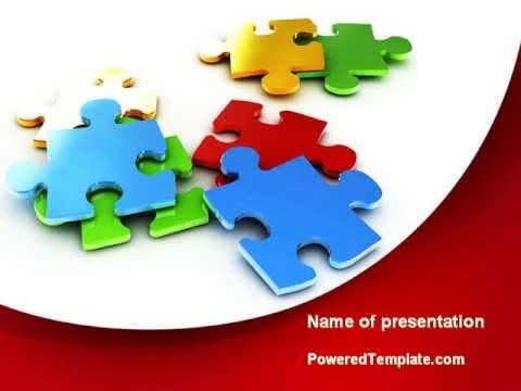 Colorful puzzle pieces powerpoint template by poweredtemplate colorful puzzle pieces powerpoint template by poweredtemplate toneelgroepblik Choice Image
