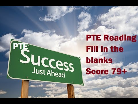 PTE Reading test Strategy to Fill in the blank question type To Score 79+
