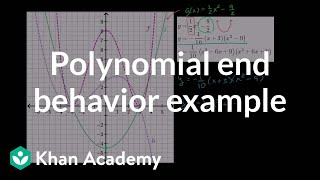 Polynomial end behavior example | Polynomial and rational functions | Algebra II | Khan Academy