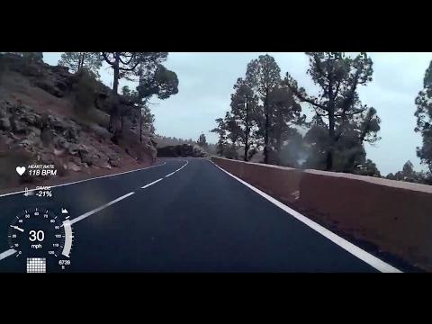 El Teide, Tenerife full descent on a road bike