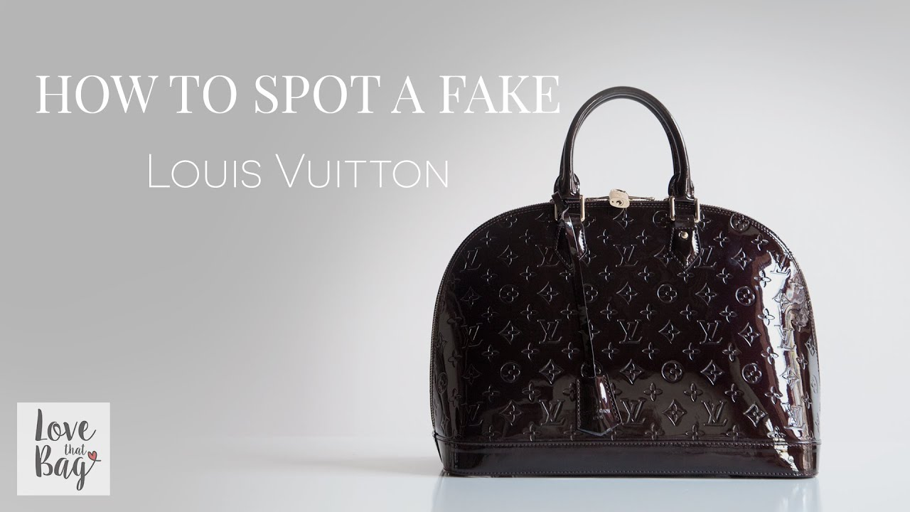 b02379f7d6e0 How to Spot a Fake  Louis Vuitton Handbag - YouTube