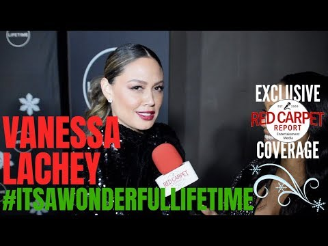 """Vanessa Lachey interviewed at the Lifetime TV's """"It's a Wonderful Lifetime"""" Holiday Event"""