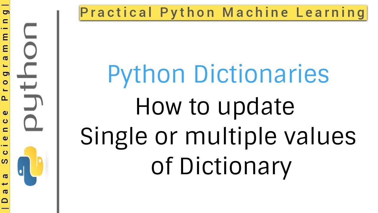 Update in python dictionary