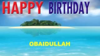 Obaidullah   Card Tarjeta - Happy Birthday