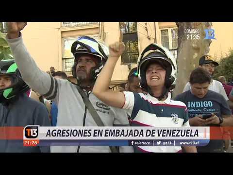 Incidentes en embajada de Venezuela en Chile