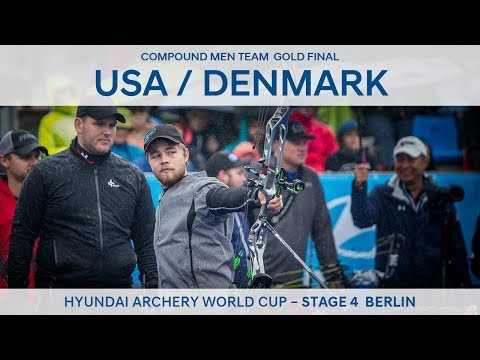 USA v Denmark – Compound Men Team Gold Final   Berlin 2017