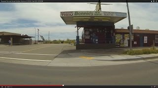 Passenger View north through Gila Bend, Arizona on AZ SR 85, 2 April 2015, GP027580