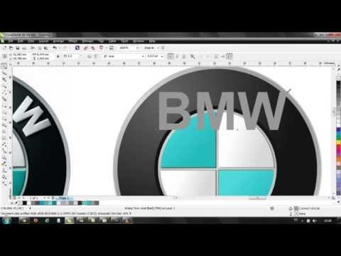 Corel Draw x6 logo BMW bmw mp4