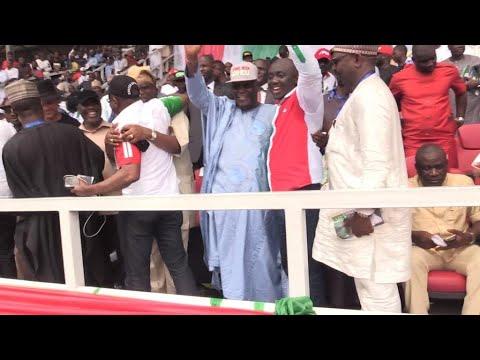 Nigerian opposition leader Atiku Abubakar launches presidential campaign