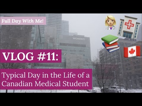 Typical Day in the Life of a Canadian Medical Student | Full Day With Me!