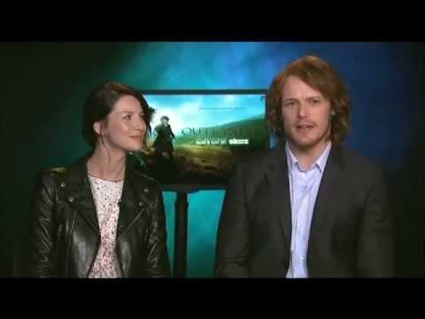 Outlander | Interview w/ Caitriona Balfe & Sam Heughan on ...