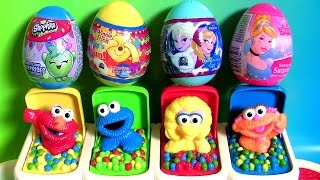 learn colors baby sesame street pop up pals toys surprise eggs shopkins pooh anna elsa cinderella
