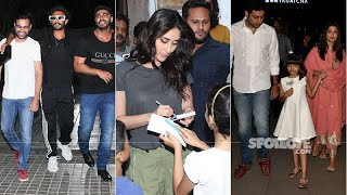 Celeb Spotting: Ranveer-Arjun's Gunday Moment, Kareena Spends Time With Fans, Abhishek-Aishwarya