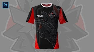 Cara Membuat Desain Jersey Esport Gaming di Adobe Photoshop | PS 05
