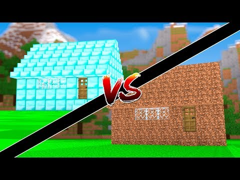 Minecraft: -NOVA CASA DE DIAMANTE VS NOVA CASA DE TERRA  - ‹ JUAUM ›