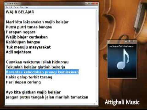 WAJIB BELAJAR - karaoke instrumen
