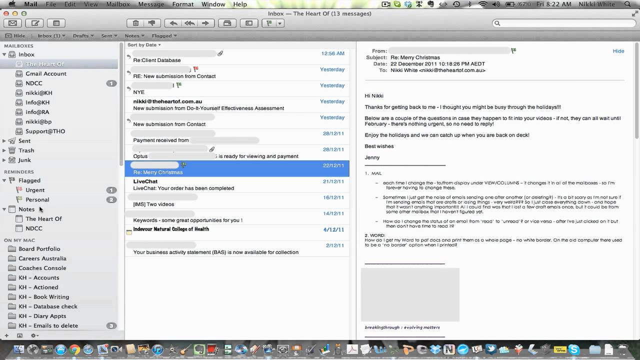 How to use flags within Mac Mail