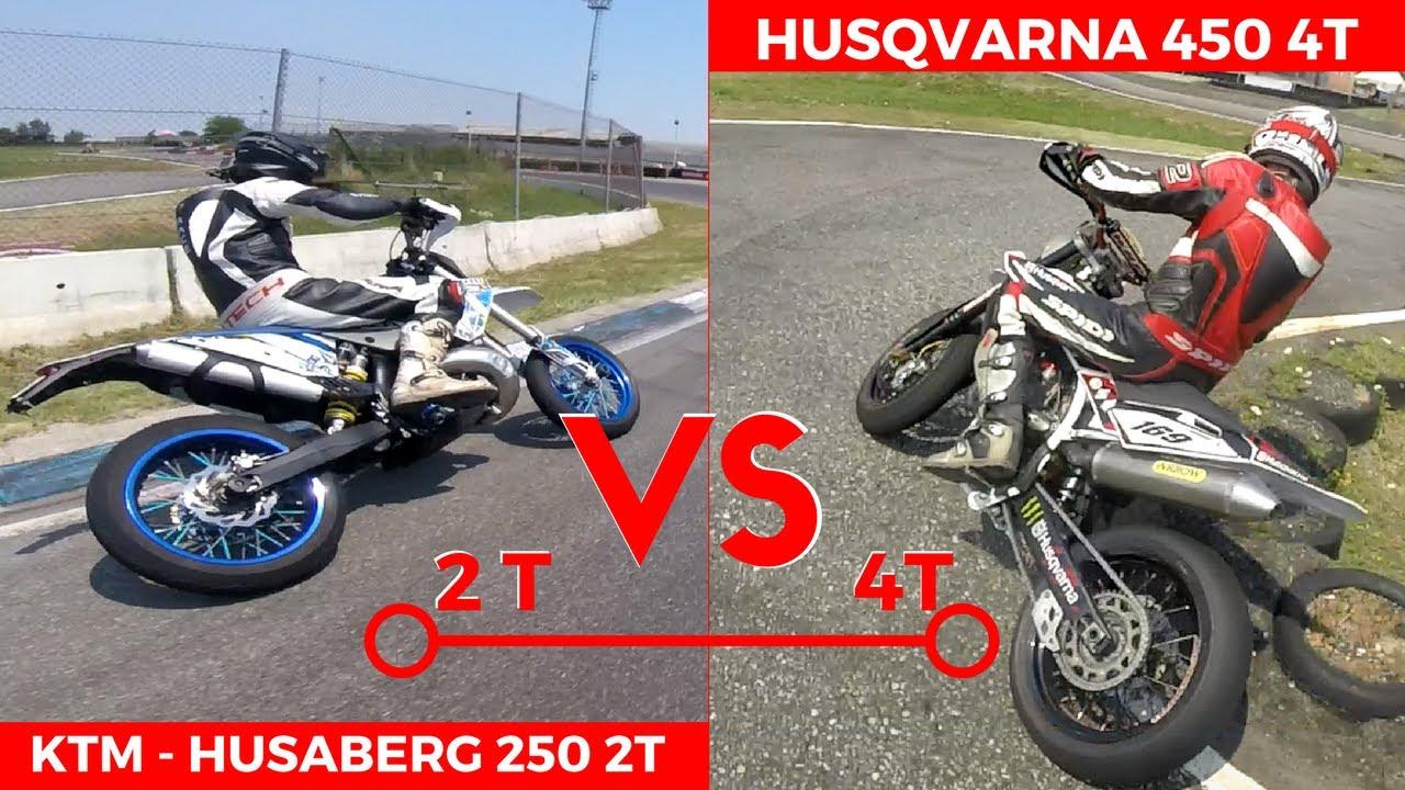 ktm 250 2t vs husqvarna 450 | in pista (ita) 2t vs 4t - youtube