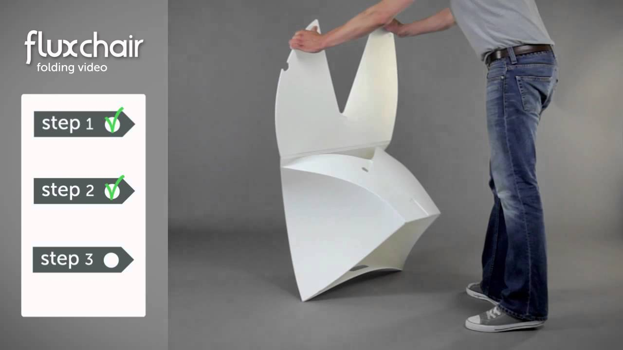 flux chair folding instructional video youtube. Black Bedroom Furniture Sets. Home Design Ideas