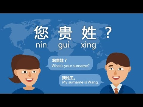 (Free Chinese Lesson) DAY 12: What's your surname in Chinese? - ni xing shenme