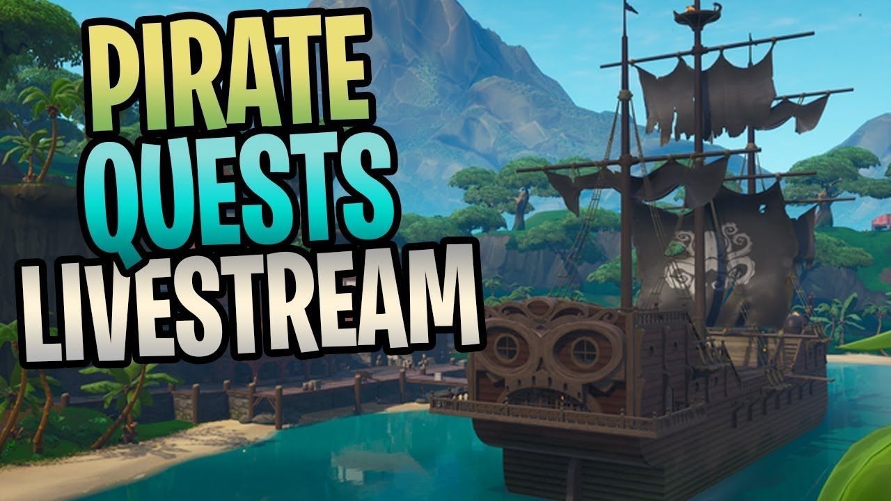 Fortnite New Pirate Quests Save The World Livestream Youtube