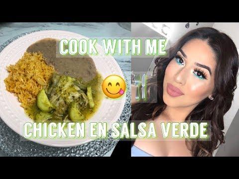 How To Make Chicken En Salsa Verde - Green Salsa |  COOK WITH ME