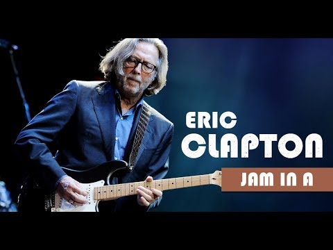 Eric Clapton Style Slow Blues Backing Track Jam in A