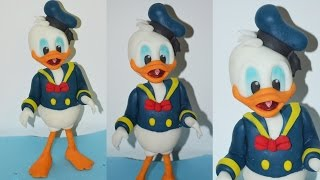 How to make DONALD DUCK cake topper fondant torta