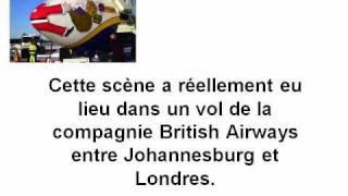 Une scene dans un vol entre Johannesbourg et Londres